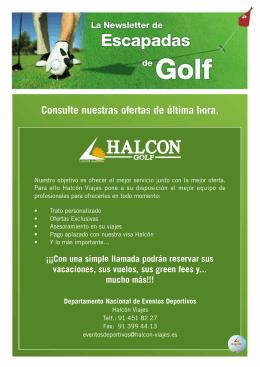 Catálogo Viajes Halcón - Benidorm Club de Golf
