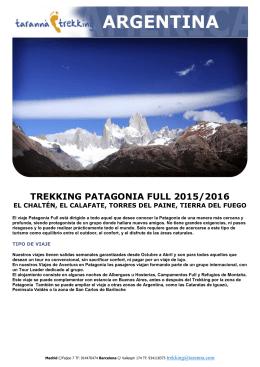 taranna trekking argentina patagonia full 2015-2016