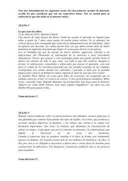 Ejercicios para trabajar el tema del texto