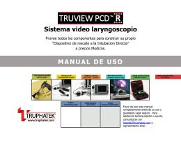 Sistema video laryngoscopio MANUAL DE USO