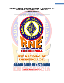 RADIO CLUB VENEZOLANO - Red Nacional De Emergencia