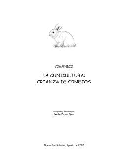 LA CUNICULTURA: CRIANZA DE CONEJOS