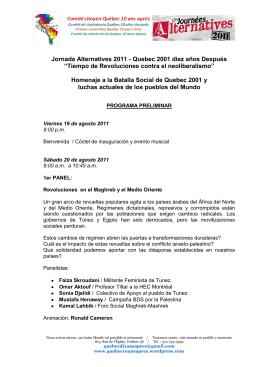 Jornada Alternatives 2011 - Quebec 2001 diez