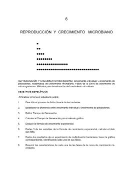 Tema 6: Reproducción y crecimiento microbiano.