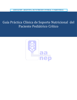 Ingresar - AANEP . Asociación Argentina de Nutrición Enteral y