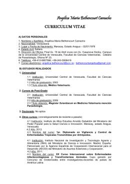 curriculum vitae - Saber UCV - Universidad Central de Venezuela