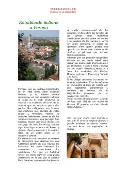 Estudiando italiano a Verona