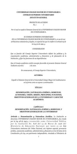 Por - Universidad Colegio Mayor de Cundinamarca