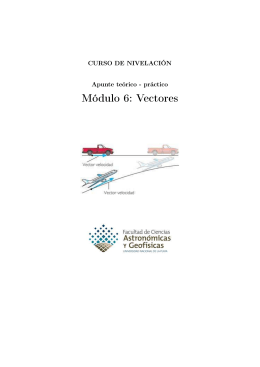 Módulo 6: Vectores