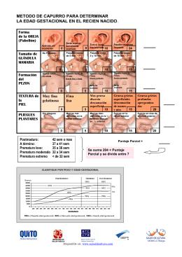 metodo de capurro para determinar la edad