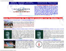 Unión Panamericana de Judo quedo protegida con las