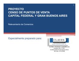 proyecto censo de puntos de venta capital federal y gran buenos aires