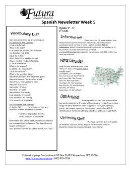 Spanish Newsletter Week 5
