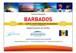 TARIFARIO BARBADOS - VERANO 2011