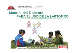 Manual del Docente para el uso de la laptop XO