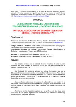 LA EDUCACIÓN FÍSICA EN LAS SERIES DE TELEVISIÓN