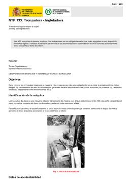 Tronzadora - Ingletadora INSHT ntp_133
