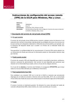 Instrucciones de configuración del acceso remoto (VPN) de la