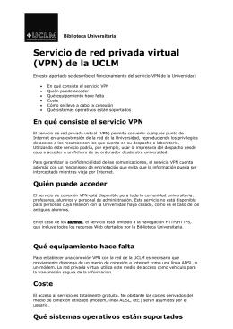 VPN - Biblioteca Universidad de Castilla