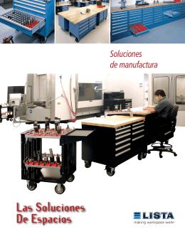 Folleto de soluciones de espacio de trabajo para manufactura