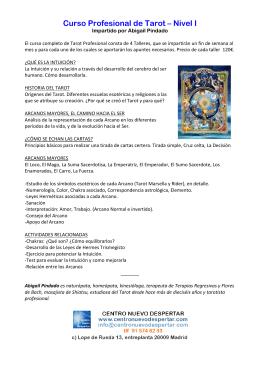 Curso Profesional de Tarot – Nivel I