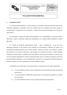 2 de 11 TITULACIÓN POTENCIOMETRICA. 1