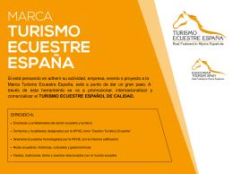 Dossier Marca Turismo Ecuestre España