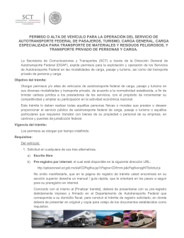 Información de permisos - Secretaría de Comunicaciones y