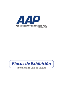 Placas de Exhibición