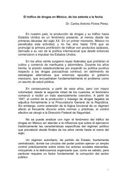El trá́fico de drogas en Mé́xico, de los setenta a la fecha