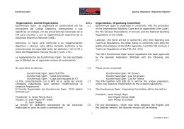 Organización. Comité Organizador Art 1 Organisation. Organising