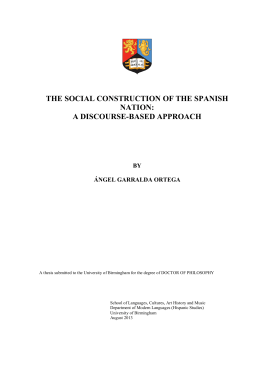 The social construction of the Spanish nation