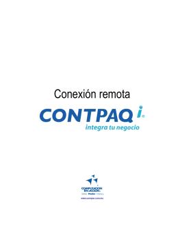 Conexión remota CONTPAQ i