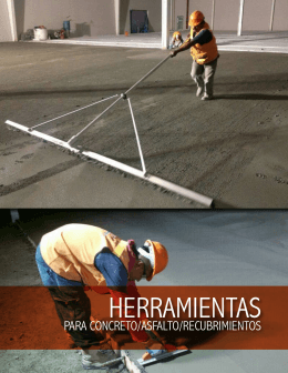 herramientas para concreto