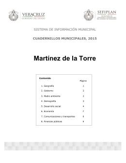 Martínez de la Torre - Gobierno del Estado de Veracruz