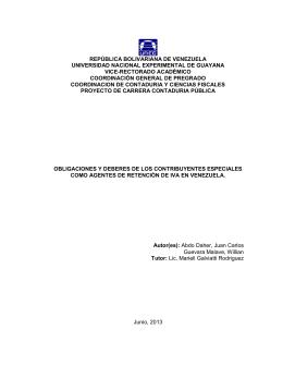 república bolivariana de venezuela universidad - CIDAR.