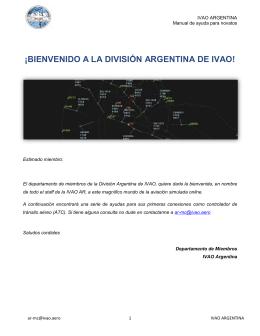 ¡BIENVENIDO A LA DIVISIÓN ARGENTINA DE IVAO!