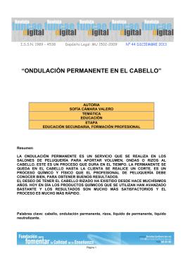 """""""ONDULACIÓN PERMANENTE EN EL CABELLO"""""""