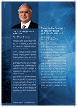Nuevo Modelo Económico de Malasia y banda ancha de alta