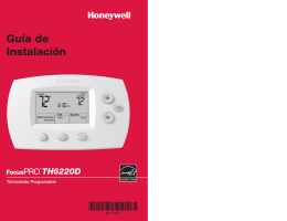 69-1785S - TH6220D Termostato Programable Guía de