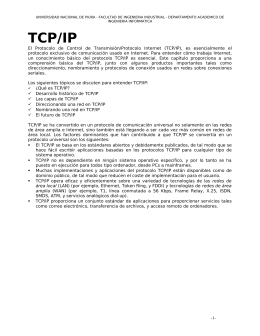 La Suite TCP/IP
