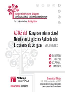 Actas del Primer Congreso Internacional Nebrija en Lingüística
