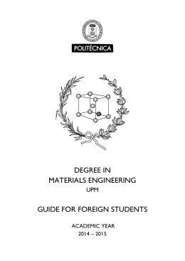 guide for foreign students - Universidad Politécnica de Madrid