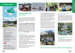 SUMMER CAMP JOB EN CANADÁ