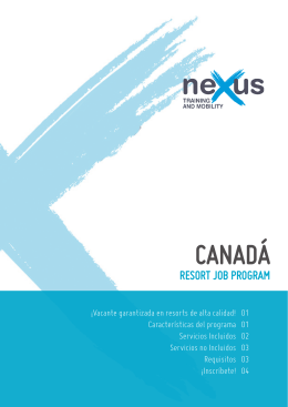 Trabajo remunerado en Canadá - NEXUS Training and Mobility