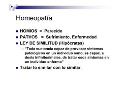Homeopatía