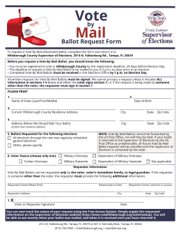 Vote Mail - Supervisor of Elections