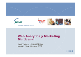 Web Analytics y Marketing Multicanal