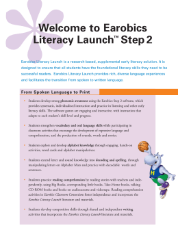 Earobics Literacy Launch
