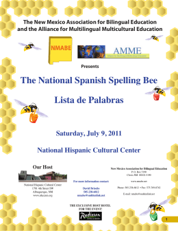 Visit this website - National Spanish Spelling Bee